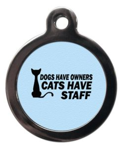 Blue Cats Have Staff Cat ID Tag