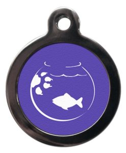 Cartoon Goldfish Cat ID Tag