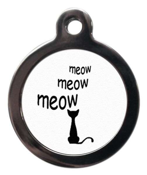 Cartoon Meow Cat ID Tag