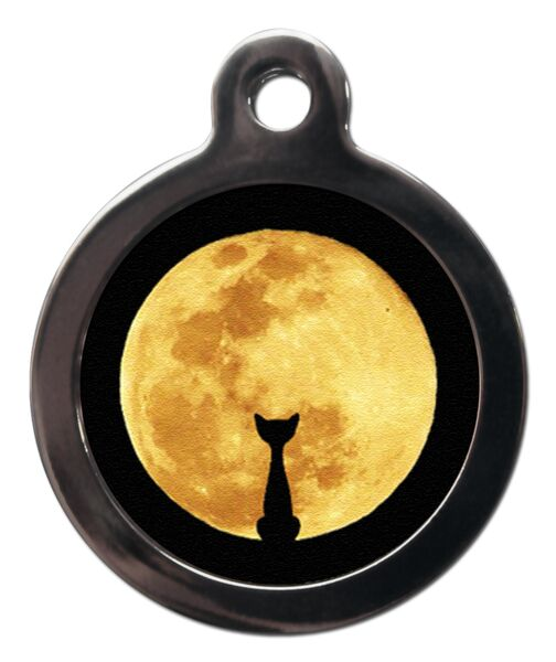 Cat And Moon Cat ID Tag
