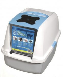 Catit Hooded Cat Litter Pan Blue