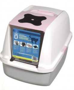 Catit Hooded Cat Litter Pan Pink