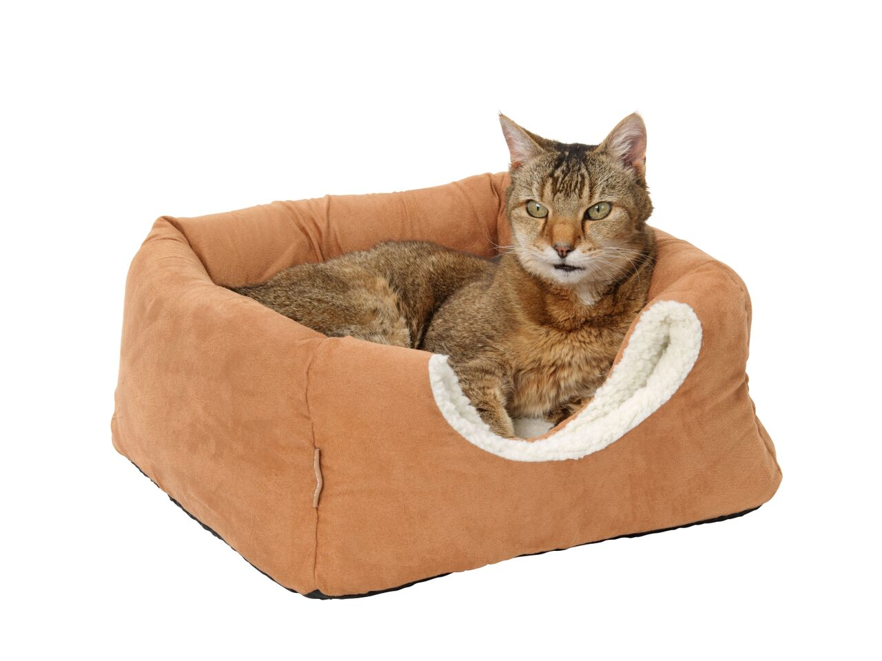 Faux Suede and Sheepskin 2 in 1 Cat Bed by House of Paws