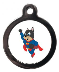 Flying Supercat Cat ID Tag