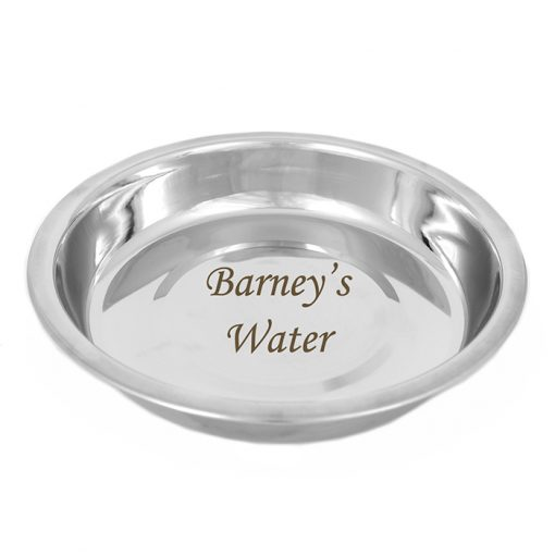 Personalised Stainless Steel Cat Bowl