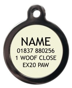 Personalised designer cat id tag chelsea cats uk