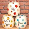 Personalised Ceramic Buttons Cat Treat Jars