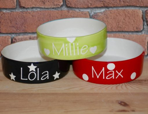 Personalised Ceramic Solids Cat Bowls