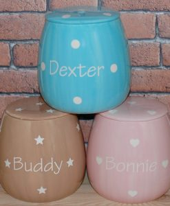 Personalised Ceramic Solids Cat Treat Jars