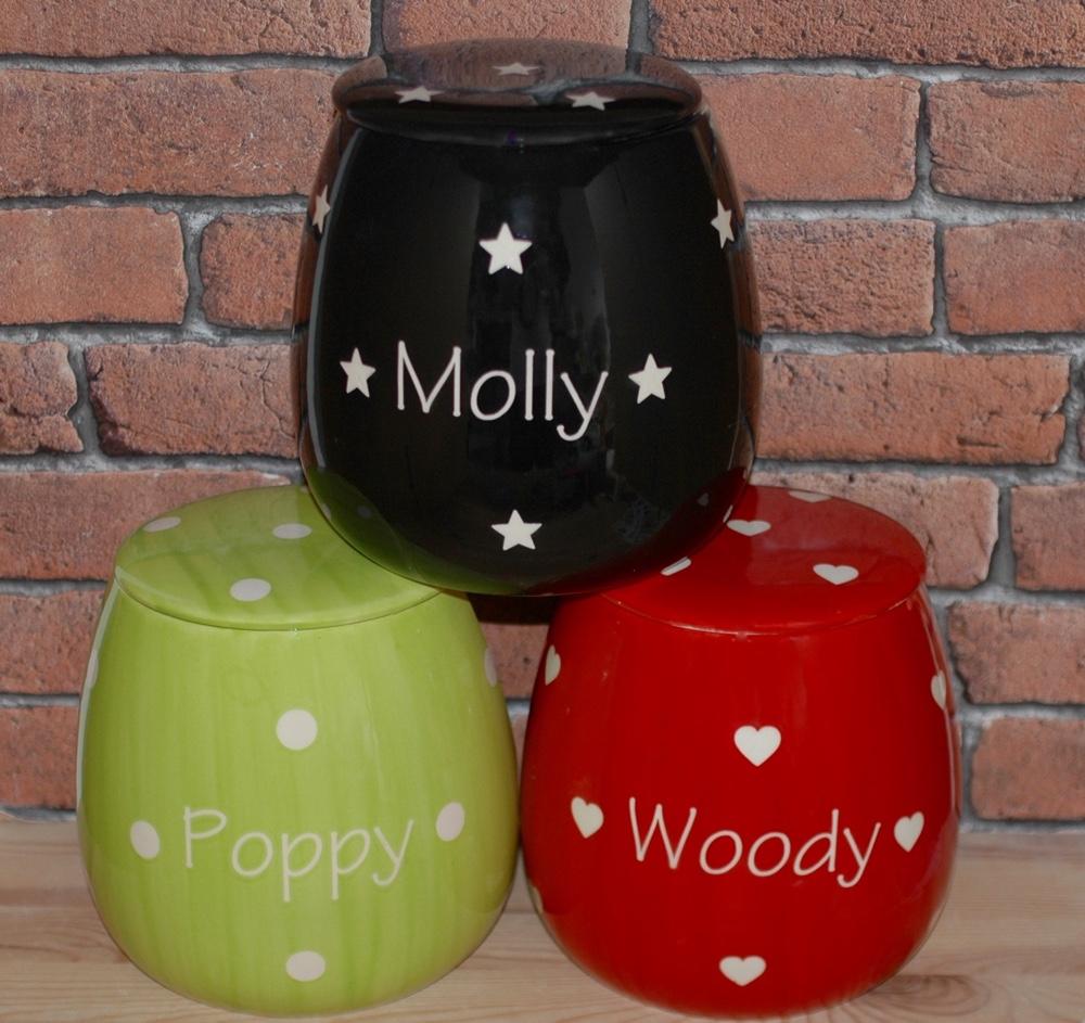 Personalised Ceramic Solids Cat Treat Jars