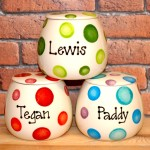 Personalised Ceramic Spotty Cat Treat Jars