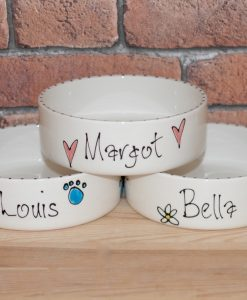 Personalised Ceramic Whimsical Cat Bowls