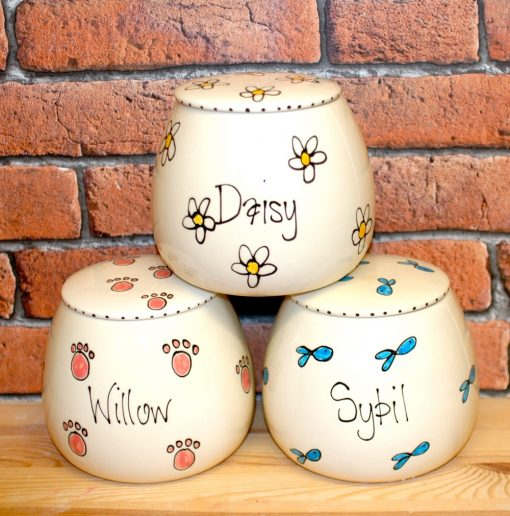Personalised Ceramic Whimsical Cat Treat Jars