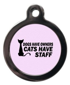 Pink Cats Have Staff Cat ID Tag