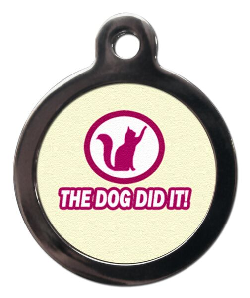 The Dog Did It Cat ID Tag