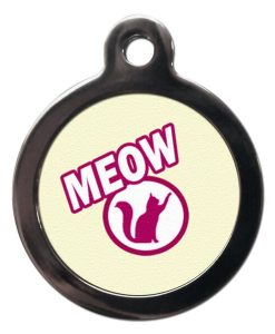 Yellow Meow Cat ID Tag