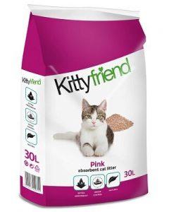 Kitty Friend Pink Cat Litter 30L