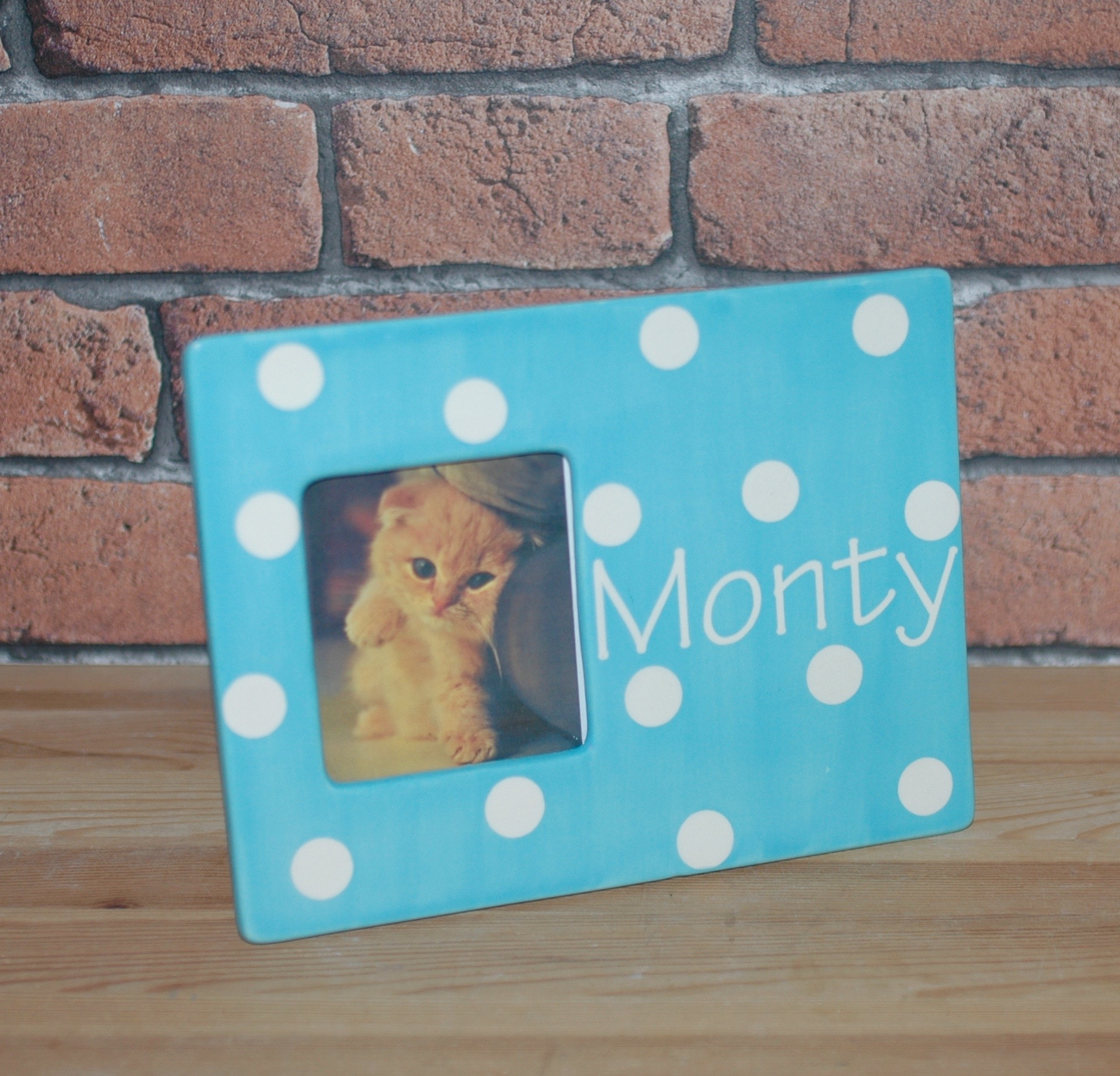 Personalised Polka Dot Pet Photo Frame
