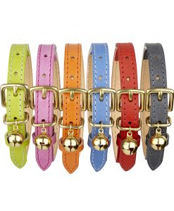 Cheshire and Wain Colour Pop Designer Leather Cat Collars