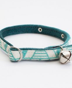 Geo Green Cat Collar by Hiro and Wolf at Chelsea Cats