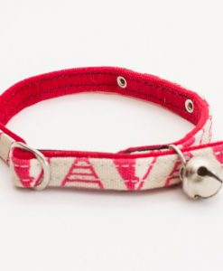 Geo Pink Cat Collar by Hiro and Wolf at Chelsea Cats