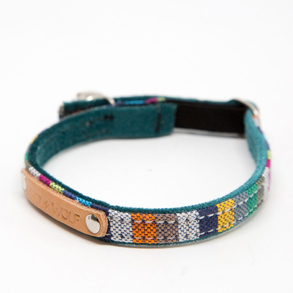 Kikoy Marine Stripe Cat Collar by Hiro and Wolf