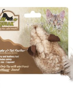 Play-N-Squeak Shake Your Tail Feather Cat Toy
