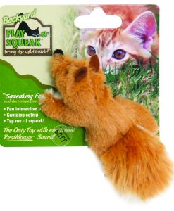 Play-N-Squeak Fox Cat Toy