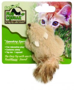 Play-N-Squeak Squirrel Cat Toy