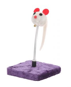 Cat Circus 22cm Purple Mouse Spring Cat Toy