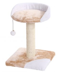Cat Circus 54cm 2 Tier Felt/Sisal Scratcher Beige and Cream