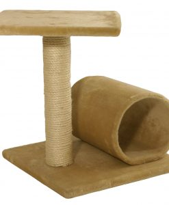 Cat Circus 44cm 2 Tier and Tunnel Sisal Scratcher