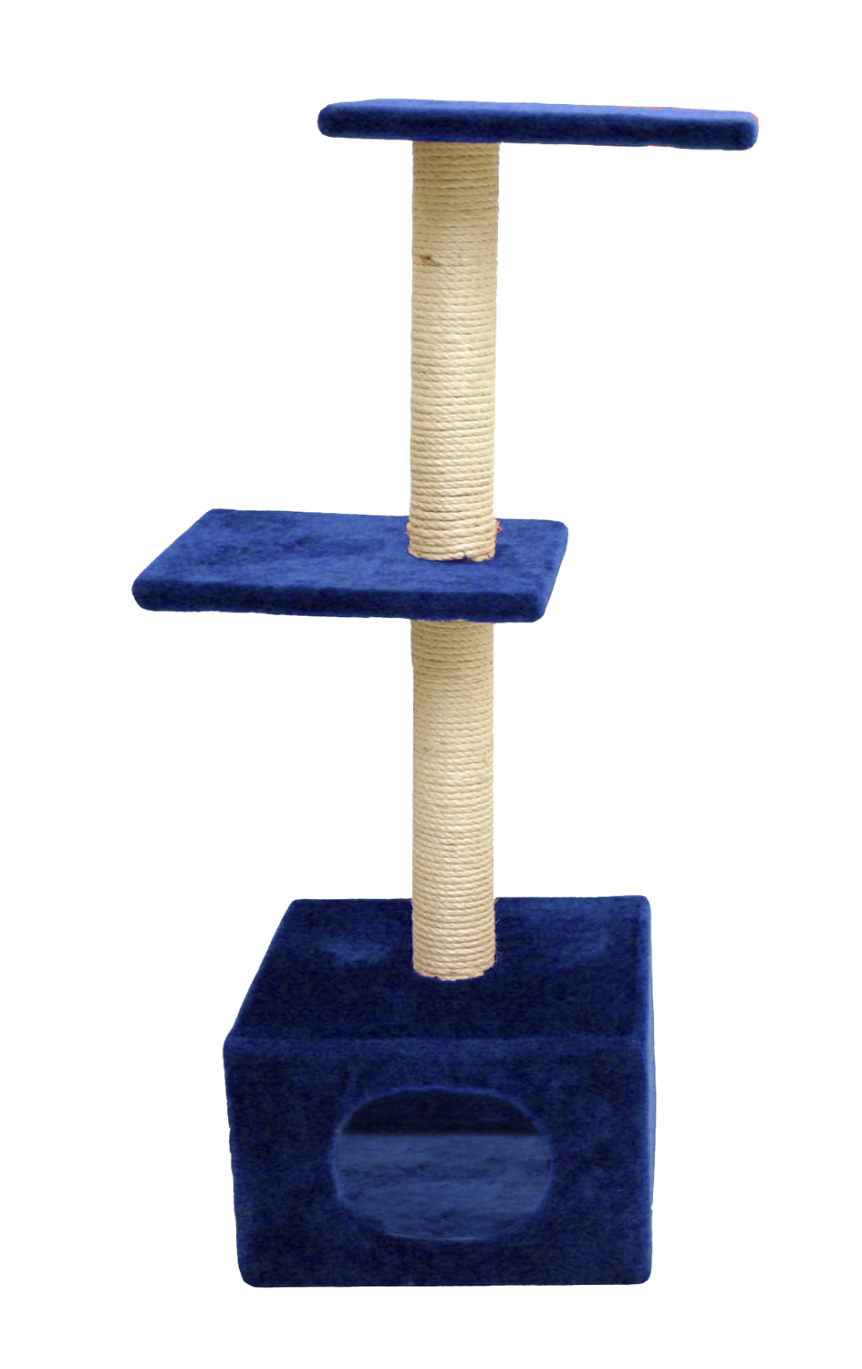 Cat Circus 104cm 3 Tier & House Sisal Scratcher