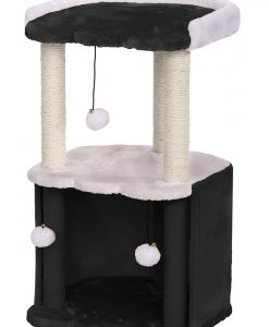 Cat Circus 72 cm 2 Tier Plush/Sisal Scratcher Dark & Light Grey