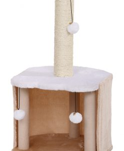 Cat Circus 75cm Sisal Scratcher Beige & Cream