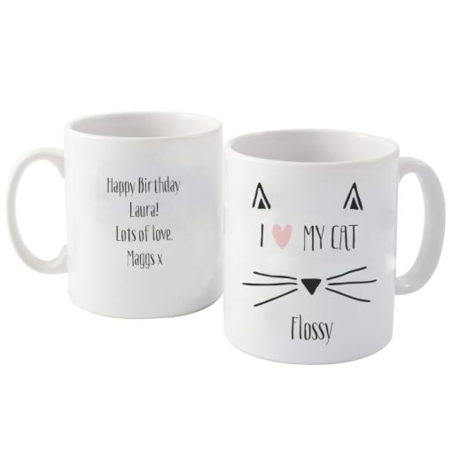 Personalised Cat Features Mug