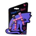 Hem and Boo Pink Zig Zag Cat Harness & Lead Set