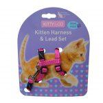 Kitty & Co Pink Spotty Kitten Harness & Lead Set