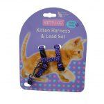 Kitty & Co Purple Spotty Kitten Harness & Lead Set