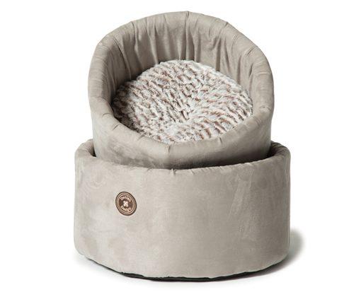 Arctic Grey Cat Cosy Bed By Danish Design