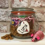 Personalised Glass Kilner Style Filled Dog Treat Jar