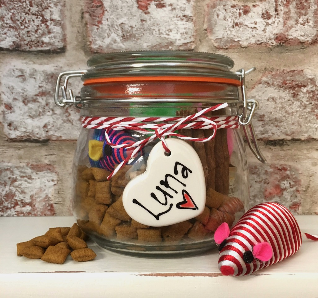 Personalised Glass Kilner Style Filled Dog Treat Jar