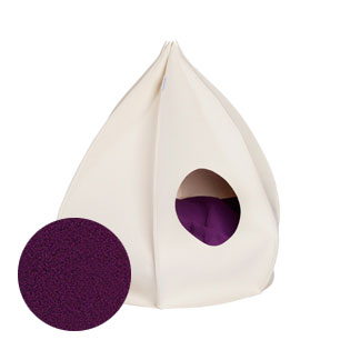 Luxury Berta Felt Cat Cave Bed