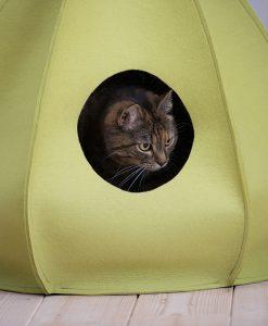 Luxury Berta Felt Cat Cave Bed