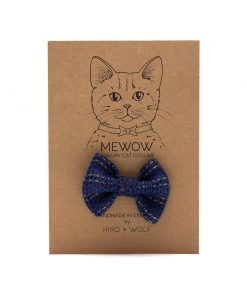 Reflective Navy Raver Cat Bow Tie