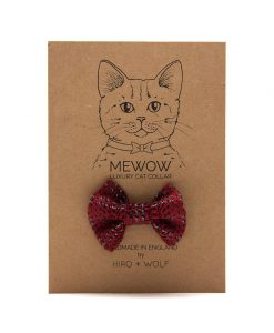 Reflective Red Raver Cat Bow Tie