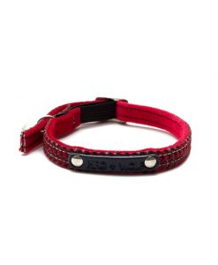 Reflective Red Raver Cat Collar