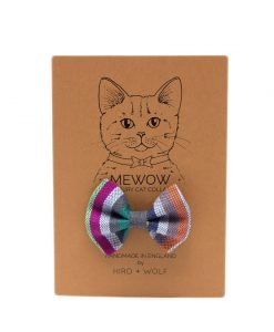 Marine Stripe Cat Bow Tie