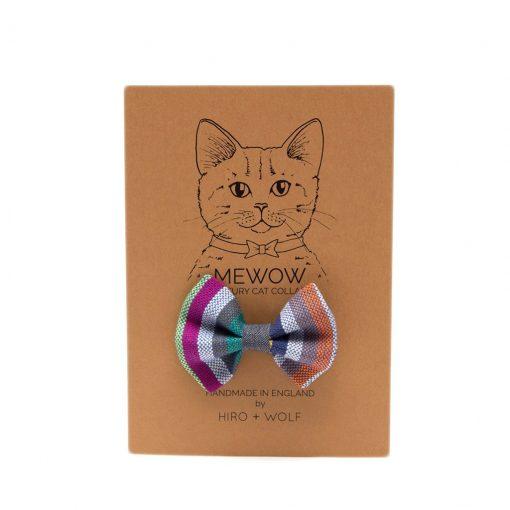 Marine Stripe Cat Bow Tie