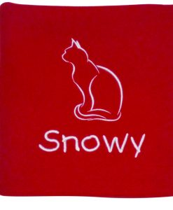 Personalised Red Cat Blanket